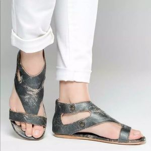 Bed Stu Soto Leather Sandal in Silver Lux